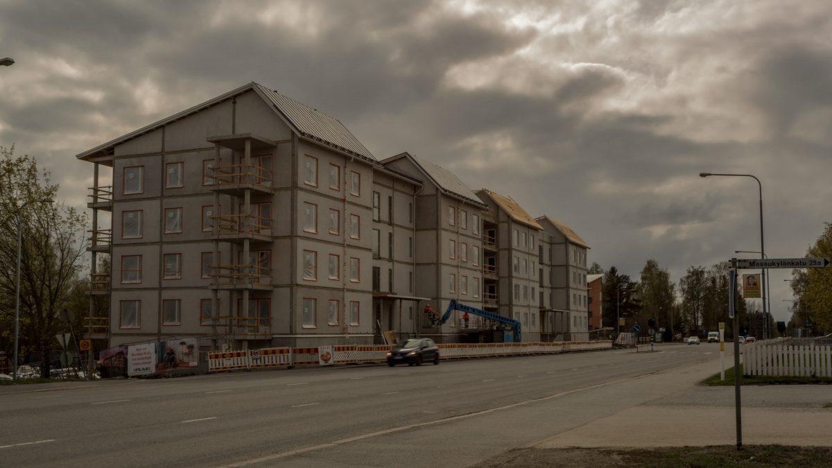 Messukylän Lissu kerrostalo valmisteilla Messukylänkadulle vuonna 2019